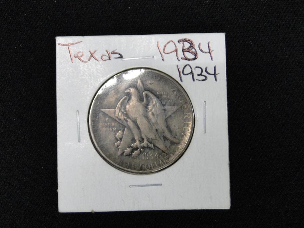 1934 Texas Commemorative Silver Half Dollar