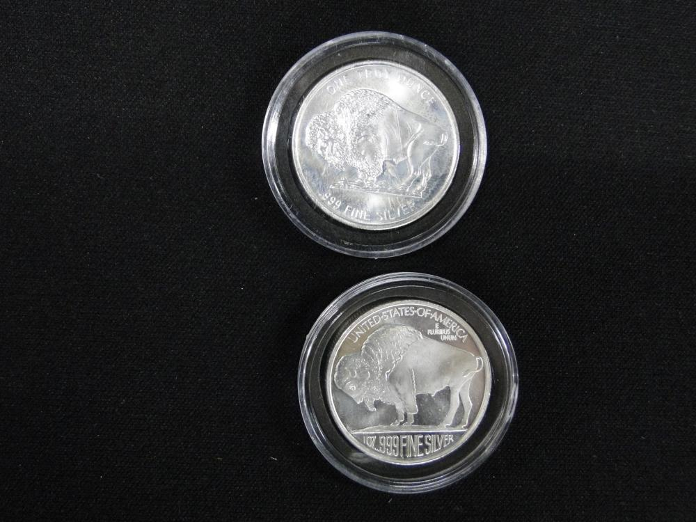 2 Indian Head Silver Rounds