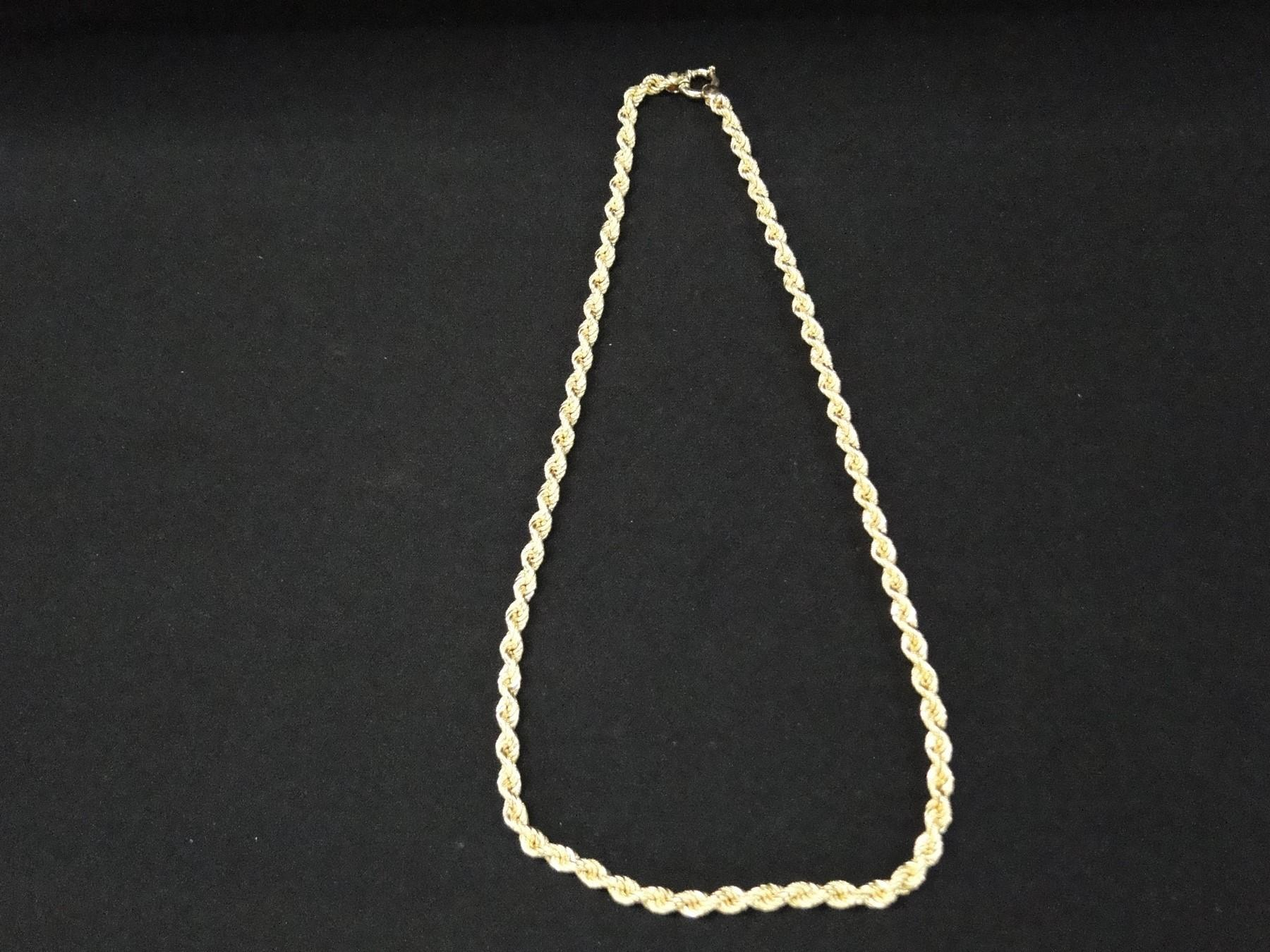 Beautiful 30 Inch 18K Gold Chain
