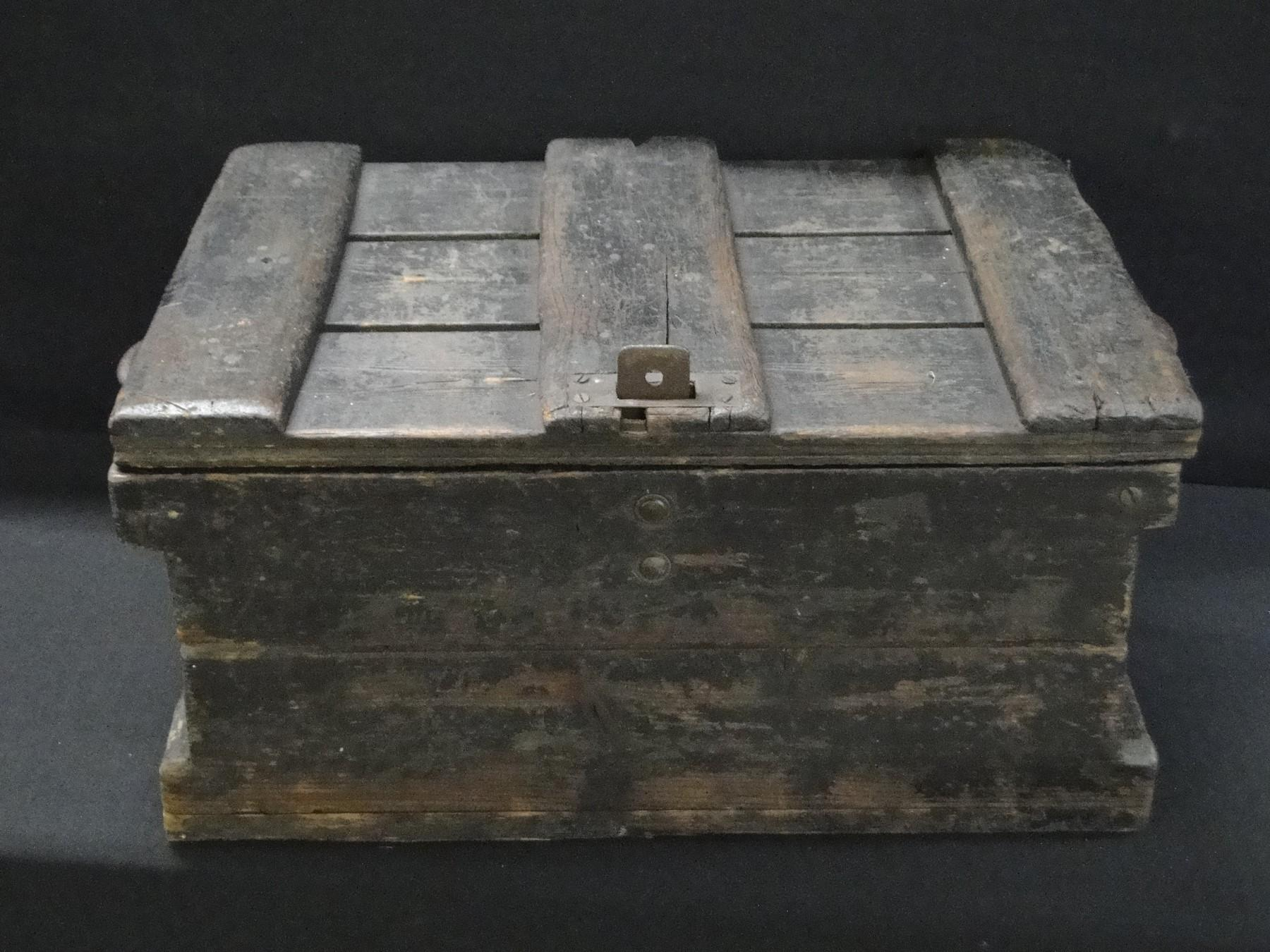Early Wooden Primitive Tool Box