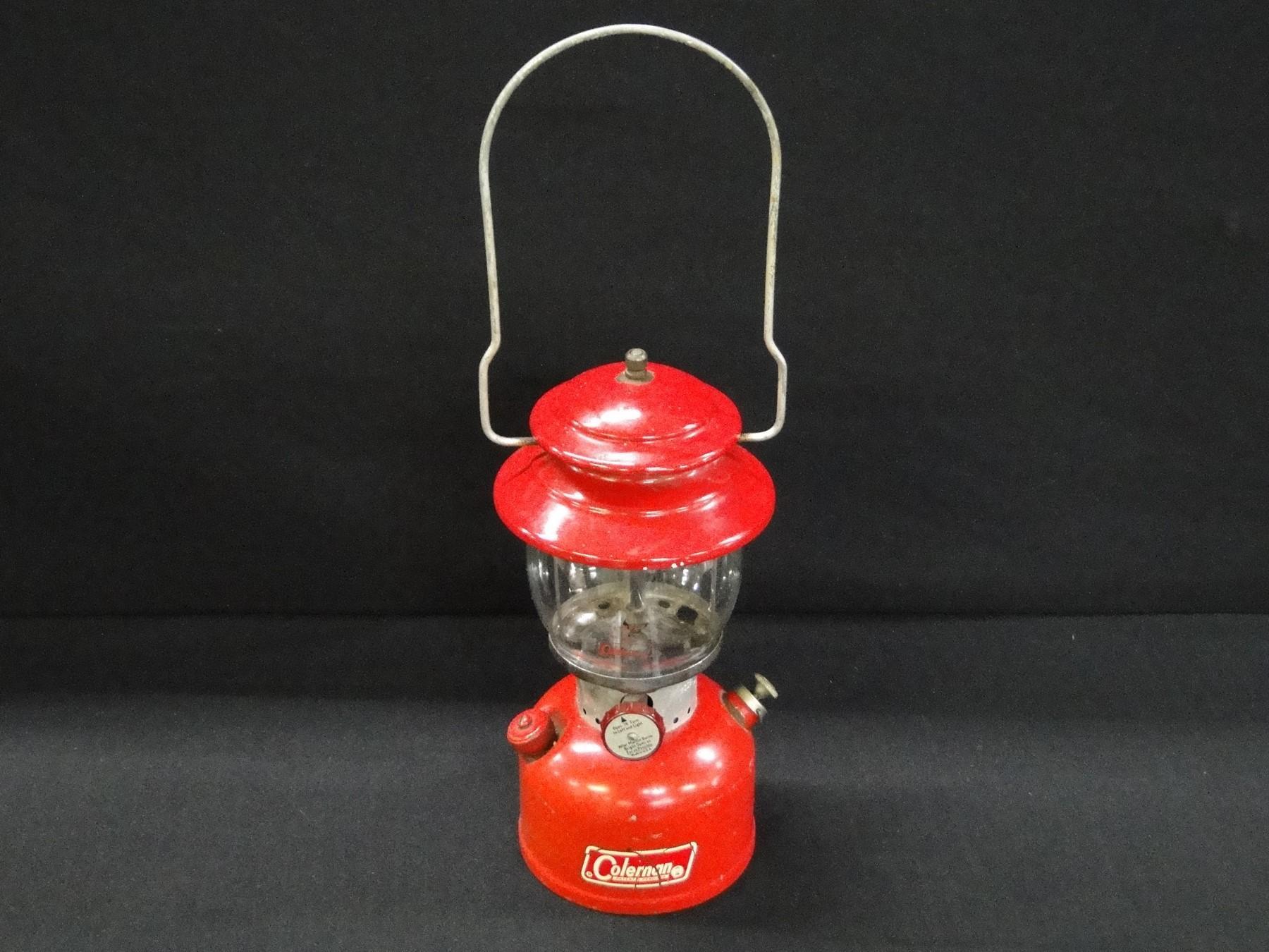 Red Colman 200 A Singe Mantel Camping Lantern