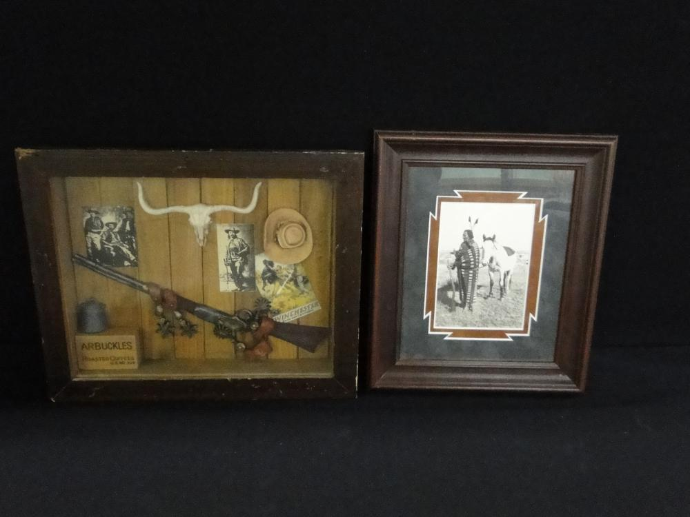 Western Shadow Box Wall Hanger and