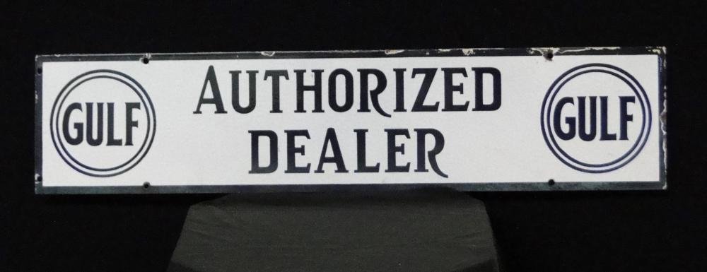 Gulf Authorized Dealer Porcelain Sign