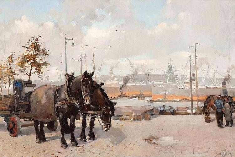 Daniel Mühlhaus (Dordrecht 1907 - 1981) Onder de