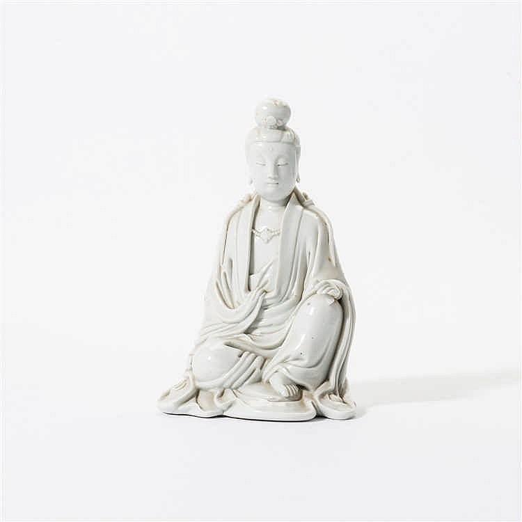 A 'blanc de Chine' seated Guanyin