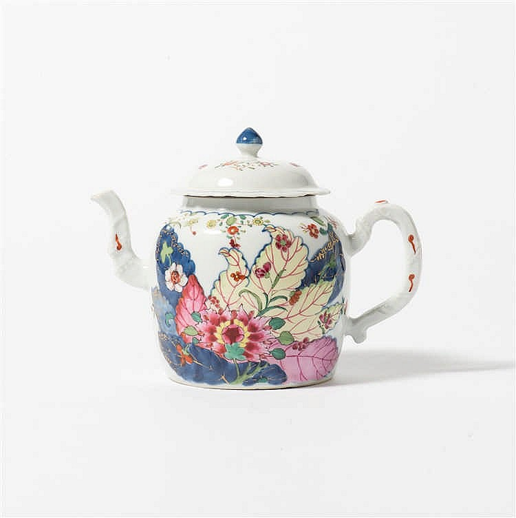 A 'famille-rose' teapot with lid