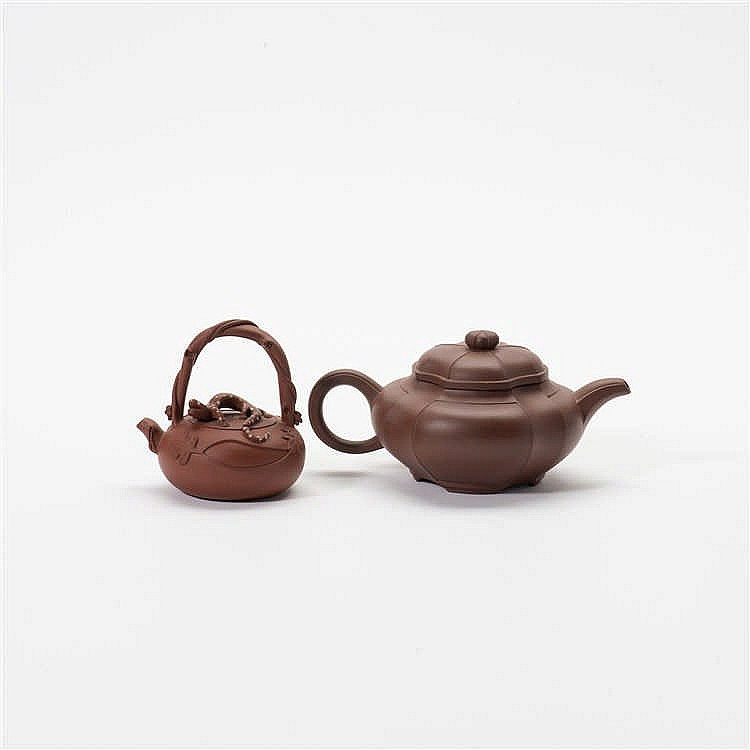 Two Yixing teapots with lids