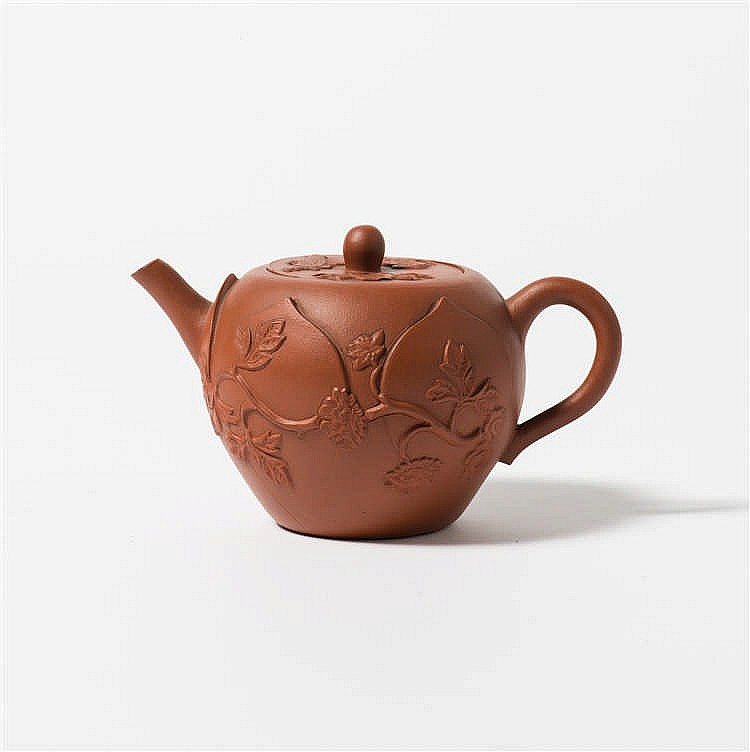 A Yixing teapot with lid