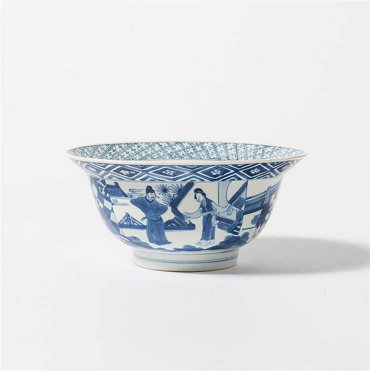 A blue and white 'klapmuts' bowl