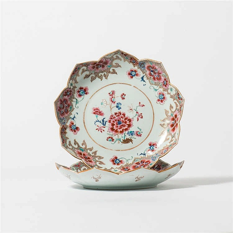 A pair of 'famille-rose' dishes