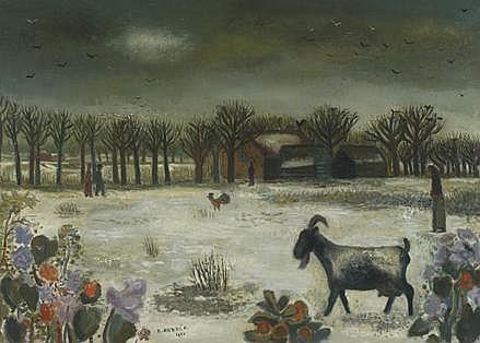 Cornelis (Kees) Andréa 1914 - 2006 Winterlandschap