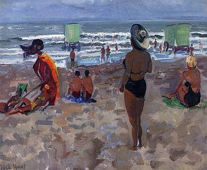Jack Hamel 1890 - 1951 Strand van Scheveningen