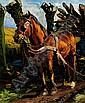 Marius Richters Rotterdam 1878 - 1955 Een paard, Marius Johannes Richters, Click for value