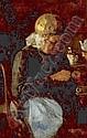 Henri Frederic Boot Maastricht 1877 - Haarlem 1963 Verstellende boerenvrouw Gesigneerd l.o. Olieverf op paneel, 33 x 21 cm.