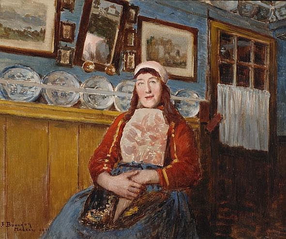 Joseph-Félix Bouchor Parijs 1853 - 1937 Een vrouw