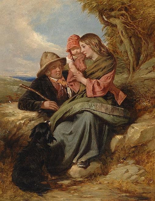 Charles Dukes 1829 - 1865 Het jonge gezin