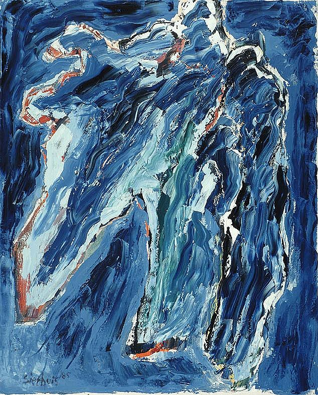 Jan Sierhuis Amsterdam 1928 Nachtelijk blauw