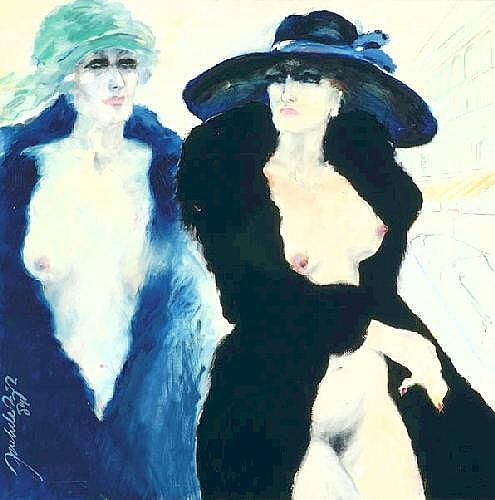 Jack de Rijk Amsterdam 1931 Two female half nudes