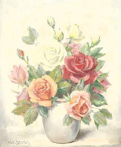 Hugo Berten Kall 1894 - Laren NH 1959 a) Roses in
