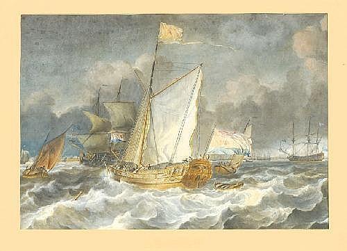 Hendrik Kobell jr. Rotterdam 1751 - 1779 'View of