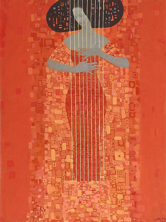 Getahun Assefa Ethiopië 1967 Musicerende vrouw
