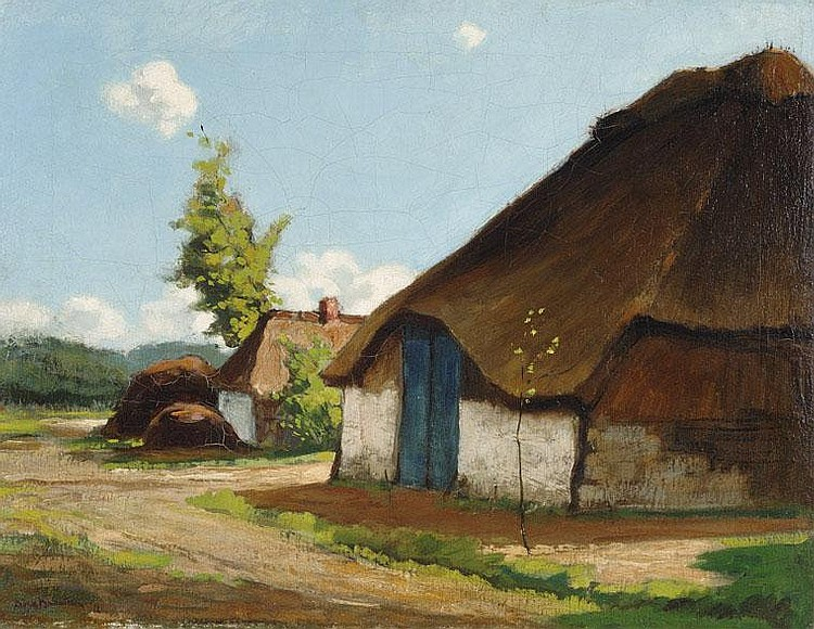 Dirk Baksteen Kempen 1886 - 1971 Shed on the