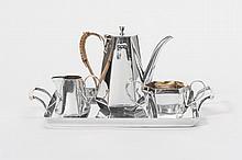 A 'solitair' silver mocha service