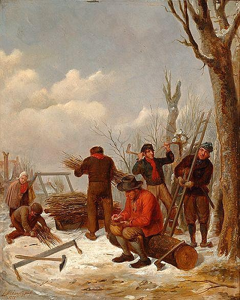 Jacob Akkersdijk Rotterdam 1815 - 1862 Hout