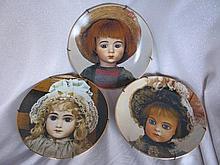 Nine ceramic German / French Seeley's Doll Plates
