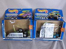 Boxed used toys:- 4X Mattel Hot Wheels Mechanix,