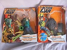 Ten Hasbro Action Man:- box/played Crimebuster &