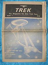 Scarce 1975 Trek #1 magazine for Star Trek fans