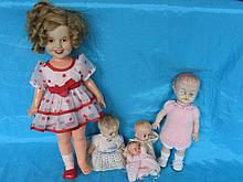 Mixed dolls, books & bears includes:- 70s Shirley