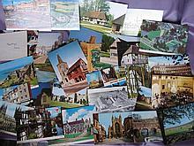 Mixed 160 plus Unused Postcards from overseas