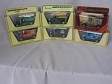 Six boxed Models of Yesteryear cars includes