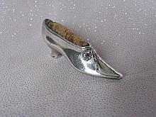 Hallmarked 7cm long antique Silver Pin Cushion