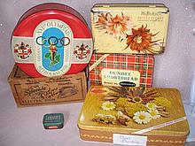 Mixed vintage Tins inc 1956 Olympics