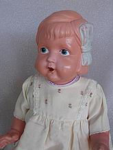 Vintage 30s Japan celluloid 56cm Baby with molded