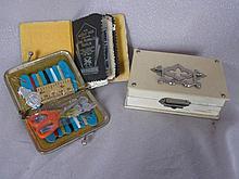 Three vintage Needlework / sewing kits:-