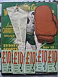 World Title Boxing 1953:- Program for 13th Nov