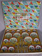 Near mint in box 1950-60s 32 piece Tin Japan child