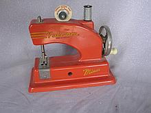 Orange tinplate English 50s Vulcan Minor toy