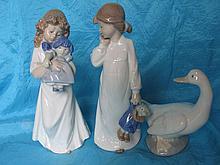 Three collectable Spain Llardo NAO figurines:- Two