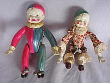 Vintage Japan Clockwork Celluloid Acrobat clowns
