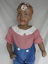 Plaster / wood 1950s Boy Store 80cm mannequin,