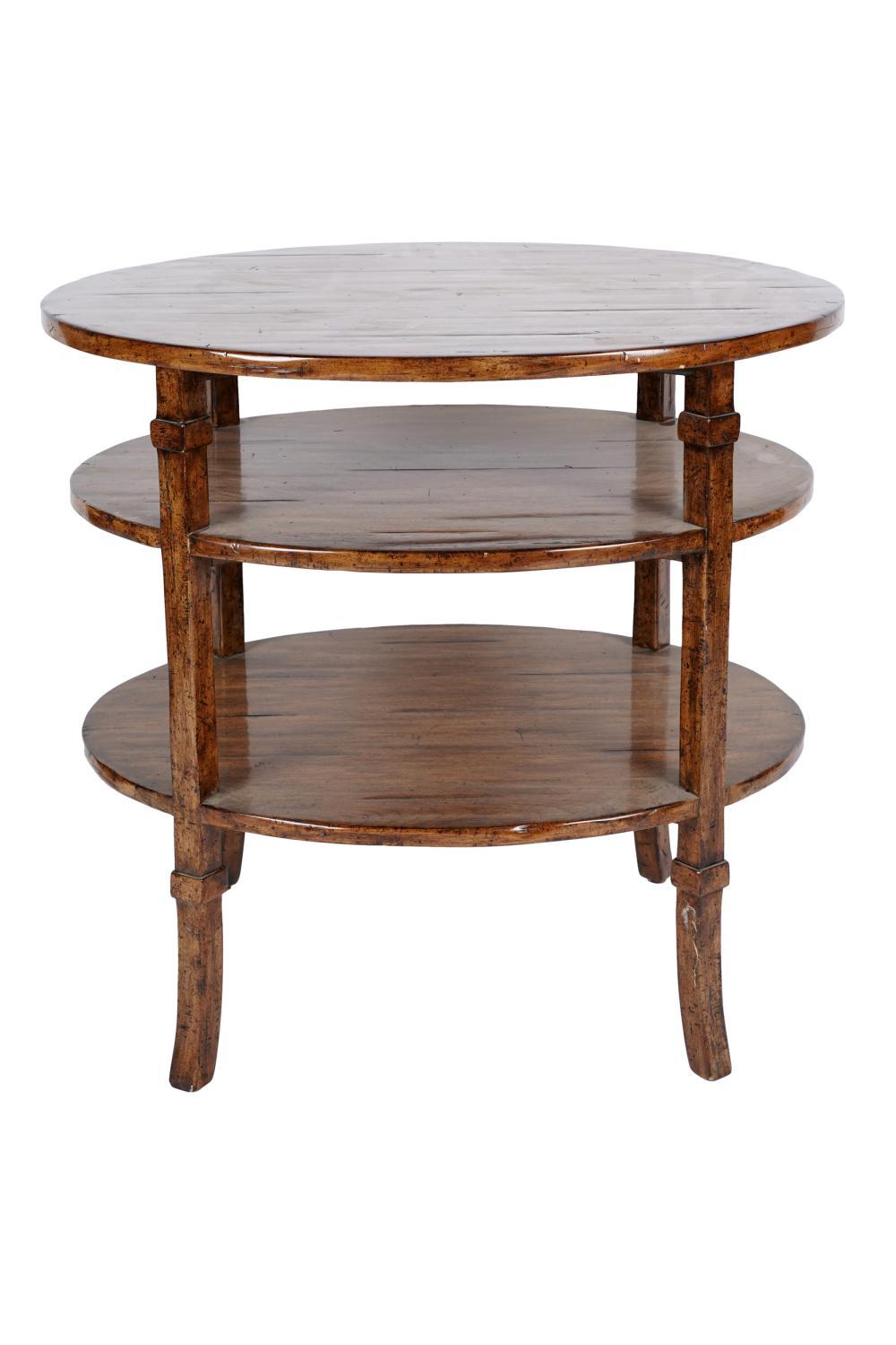 BAUSMAN TIERED WALNUT SIDE TABLE