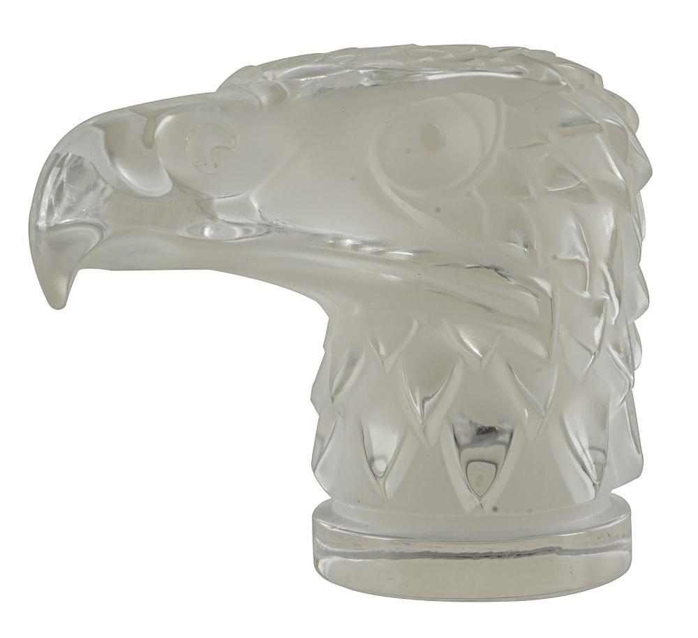 LALIQUE GLASS EAGLE MASCOT