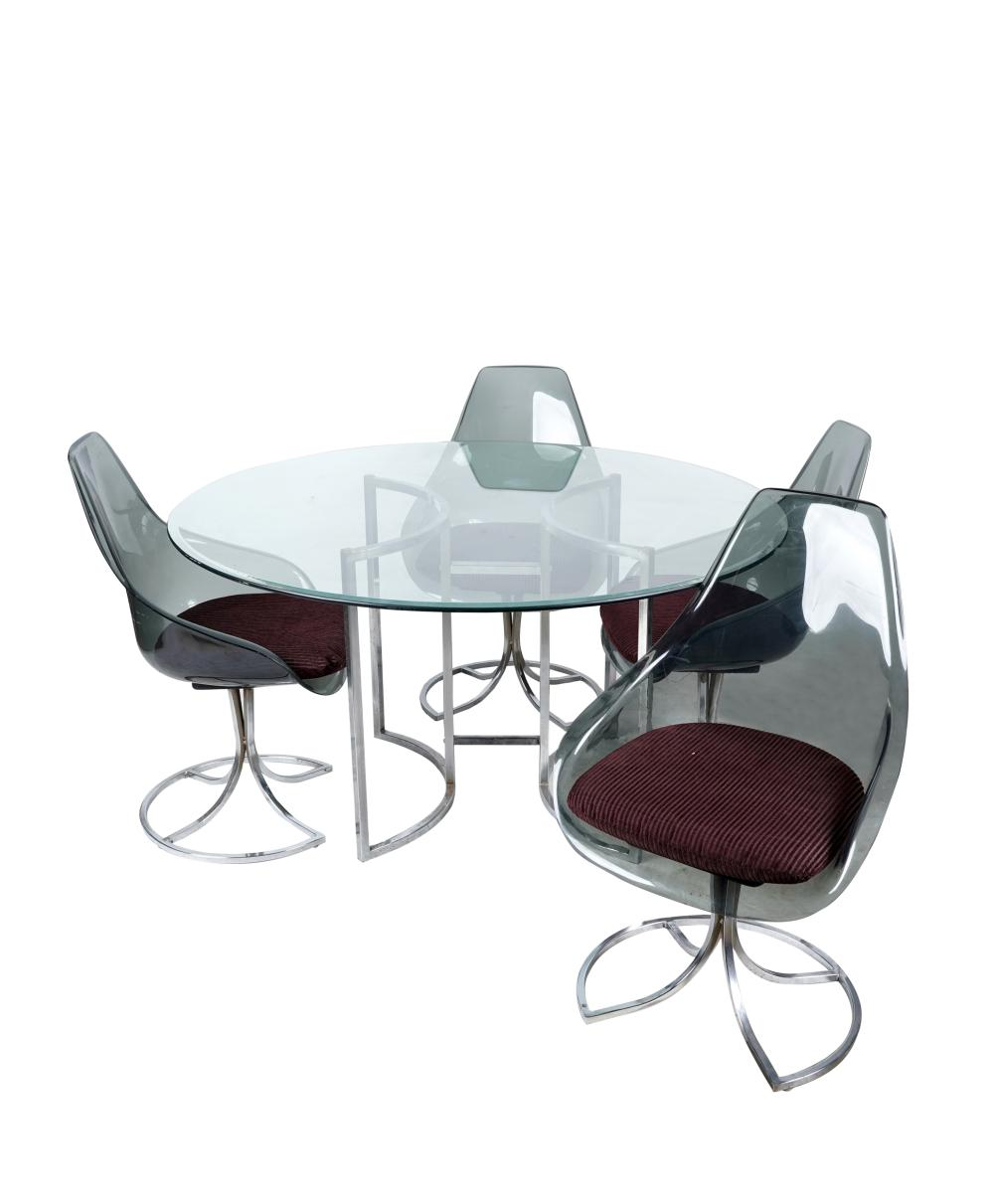 CONTEMPORARY DINING TABLE & FOUR CHAIRS