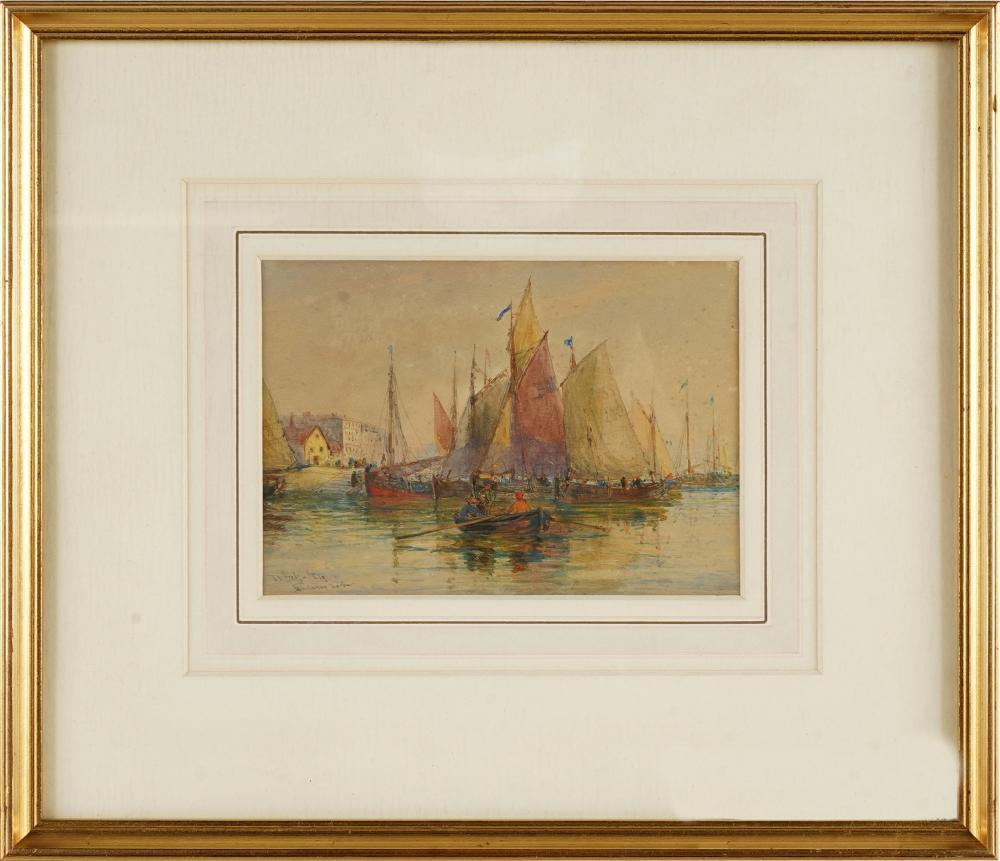 "THOMAS BUSH HARDY (1842 - 1897): ""BOULOGNE"" - THE HARBOUR"