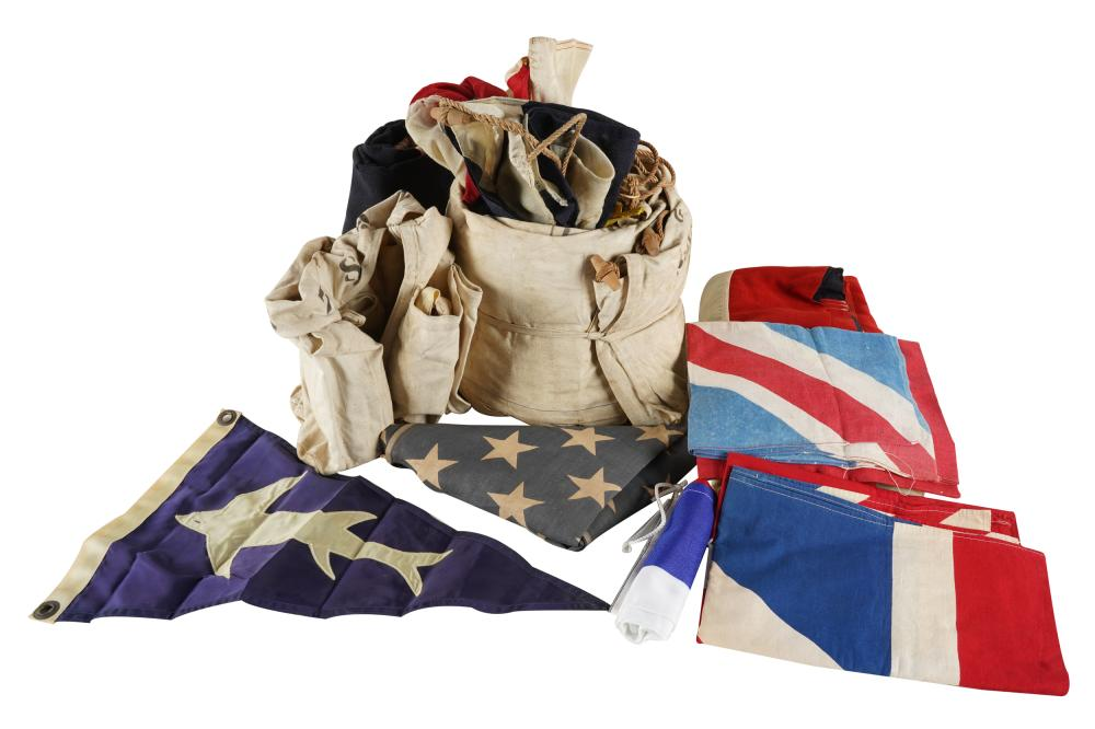COLLECTION OF NAUTICAL PENNANTS & FLAGS